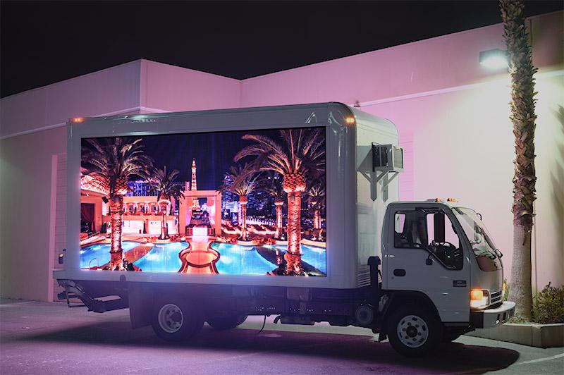 digital billboard trucks in Miami